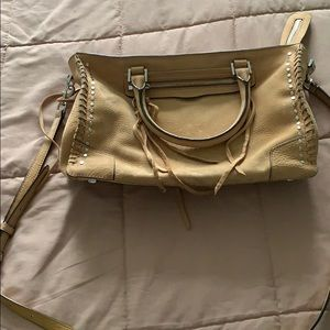 Rebecca Minkoff large camel leather suede purse